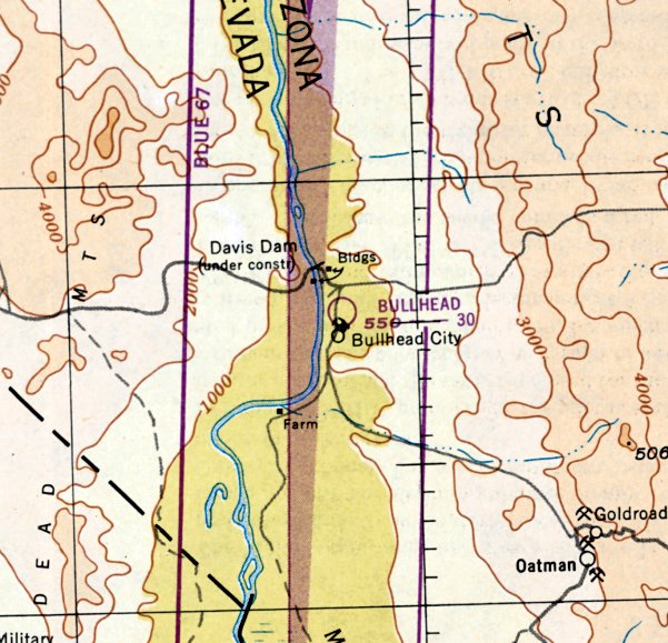 Map Of Arizona Bullhead City.Abandoned Little Known Airfields Northwestern Arizona