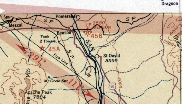 Map Of Southeast Arizona.Abandoned Little Known Airfields Southeastern Arizona