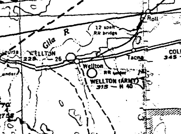 Wellton Army Airfield As Depicted On The March 1948 San Diego Sectional Chart Courtesy Of Ron Plante: Anzio Sd Meter Wiring Diagram At Downselot.com