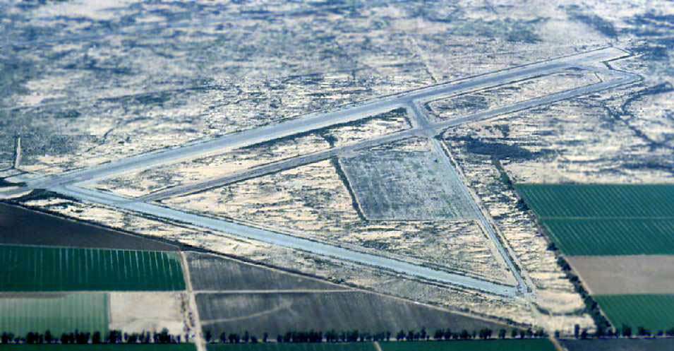 1970s aerial photo of Gila River Memorial Airport in Chandler AZ