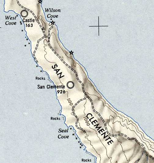 The 1946 Usgs Topo Map Still Depicted The Original San Clemente Airfield