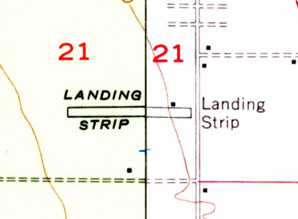 The 1955 Usgs Topo Map Depicted K Field As A Single East West Runway Labeled Simply As Landing Strip