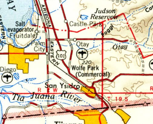 San Isidro California Map.Abandoned Little Known Airfields California Southern San Diego Area