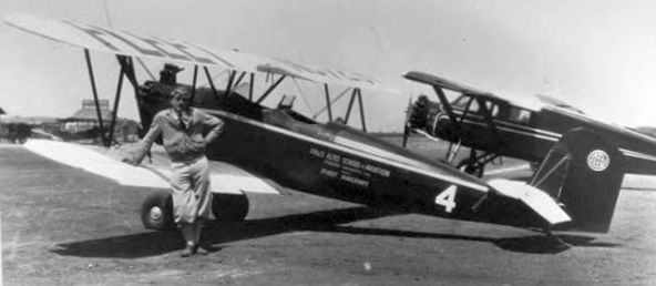 An Undated Photo Of Pilot Paul Mantz Next To A Fleet Biplane With The  Markings Of The U201cPalo Alto School Of Aviation, Stanford Universityu201d  (courtesy Of ...