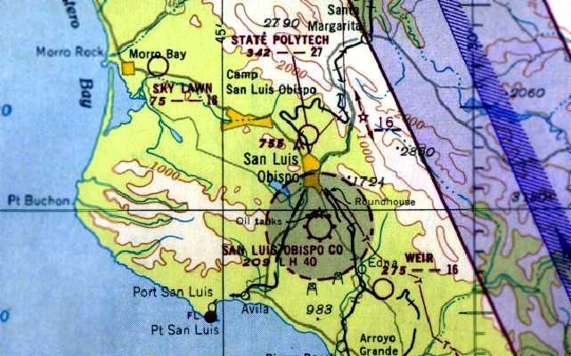 San Luis Obispo Airport Map Abandoned & Little Known Airfields: California: San Luis Obispo area