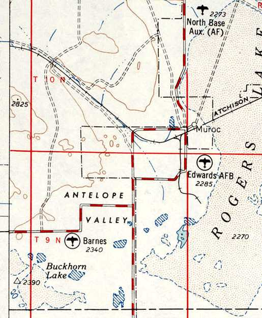 Abandoned LittleKnown Airfields Mojave Area - Edwards afb map