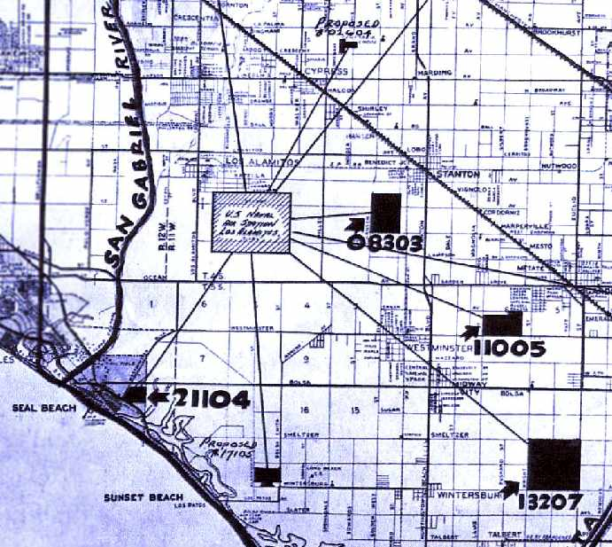 Los Alamitos California Map.Abandoned Little Known Airfields Northwestern Orange County