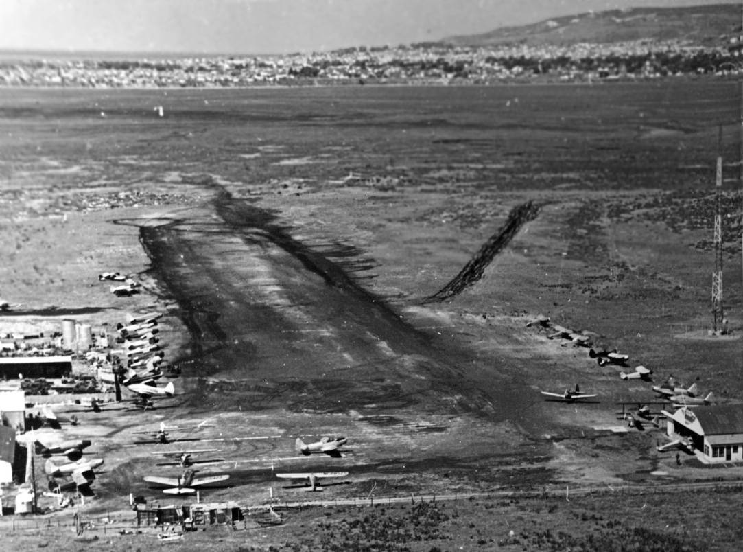 Abandoned Little Known Airfields California Southern San Diego Area 1930 Chevrolet Wiring Diagram A 1946 Aerial View Looking Northwest Along Final Approach At Pieks Airport Courtesy Of John Nance