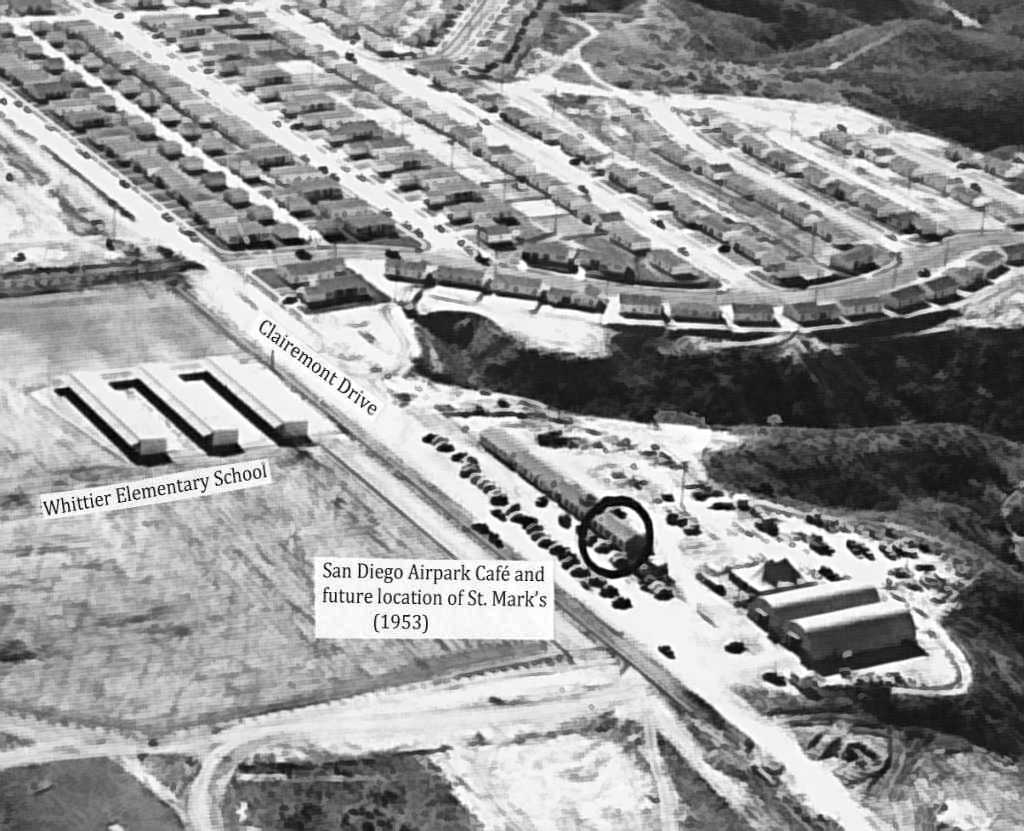 Abandoned Little Known Airfields California Southern San Diego Area 1930 Chevrolet Wiring Diagram An Early 1953 Aerial View Looking Southwest At The Site Of Airpark Courtesy St Marks Church Archives Via Curtis Carroll