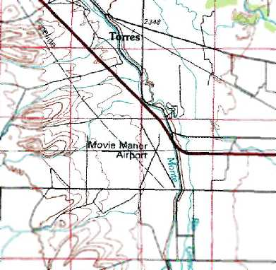 The 1979 Usgs Topo Map Depicted The Movie Manor Airport As Having 2 Unpaved Runways