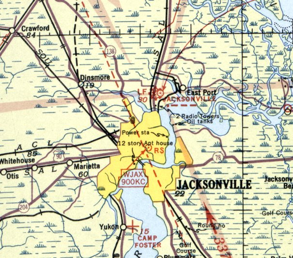 Florida Map Jacksonville.Abandoned Little Known Airfields Florida Northeastern Jacksonville