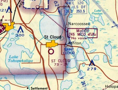 St Cloud Florida Map.Abandoned Little Known Airfields Florida Southesastern Orlando Area