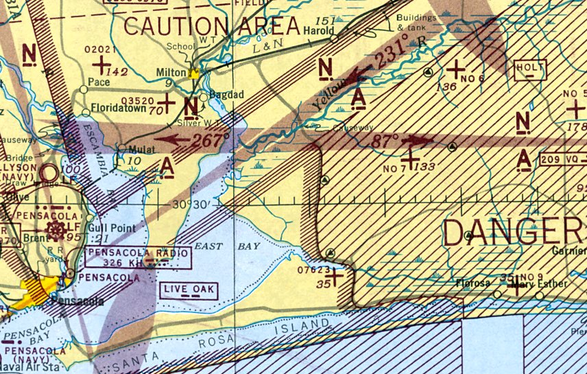 Pace Florida Map.Abandoned Little Known Airfields Florida Eastern Pensacola Area