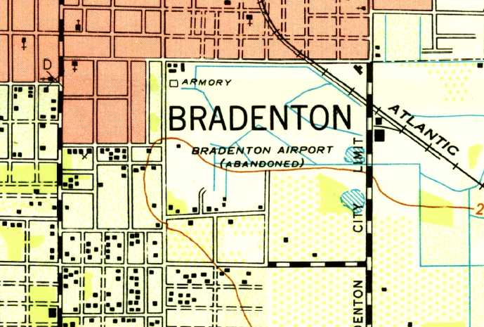 Bradenton Florida Map.Abandoned Little Known Airfields Florida Southern Tampa Area