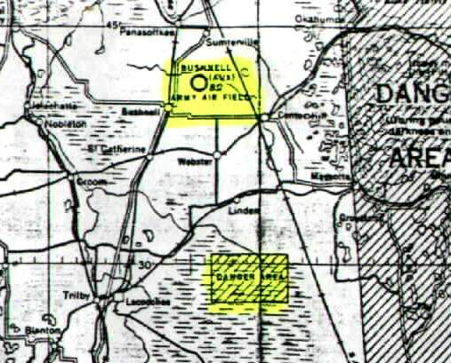 Bushnell Florida Map.Abandoned Little Known Airfields Florida Northern Tampa Area