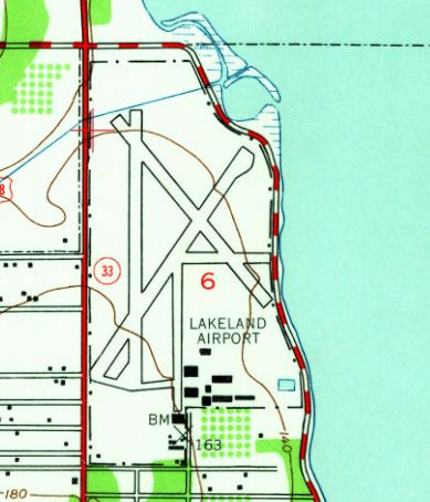 Lakeland Florida Map.Abandoned Little Known Airfields Florida Northern Tampa Area