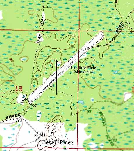 Tampa Topographic Map.Abandoned Little Known Airfields Florida Northern Tampa Area