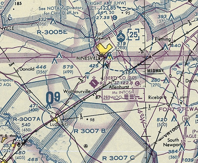 Map Of Southeast Georgia.Abandoned Little Known Airfields Southeastern Georgia