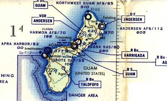 Abandoned little known airfields western pacific islands the earliest aeronautical chart depiction which has been located of guam northwest field gumiabroncs