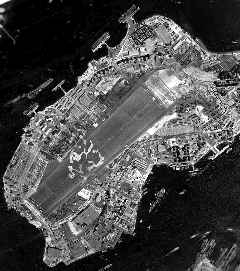 A remarkable 9 5 44 u s navy aerial view of ford island national archives photo courtesy of brian rehwinkel