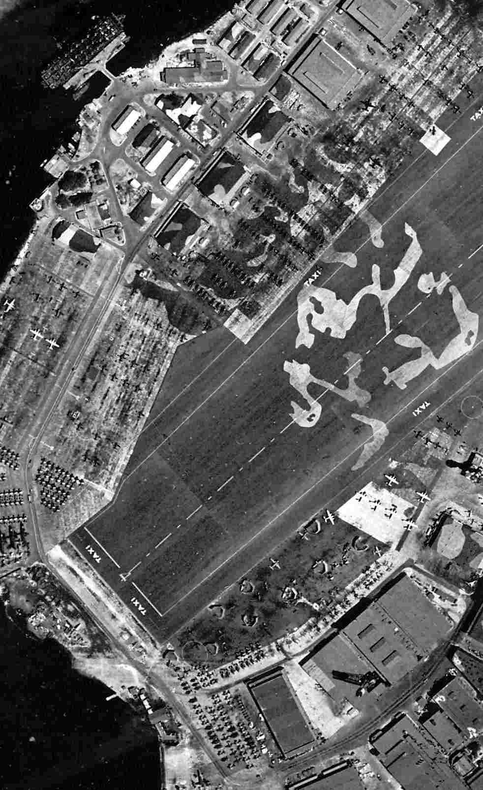 A closeup from the 9 5 44 u s navy aerial view of ford island national archives photo courtesy of brian rehwinkel