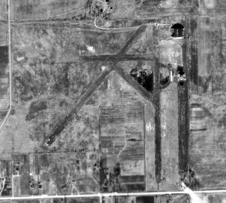 a 1938 aerial view of sky
