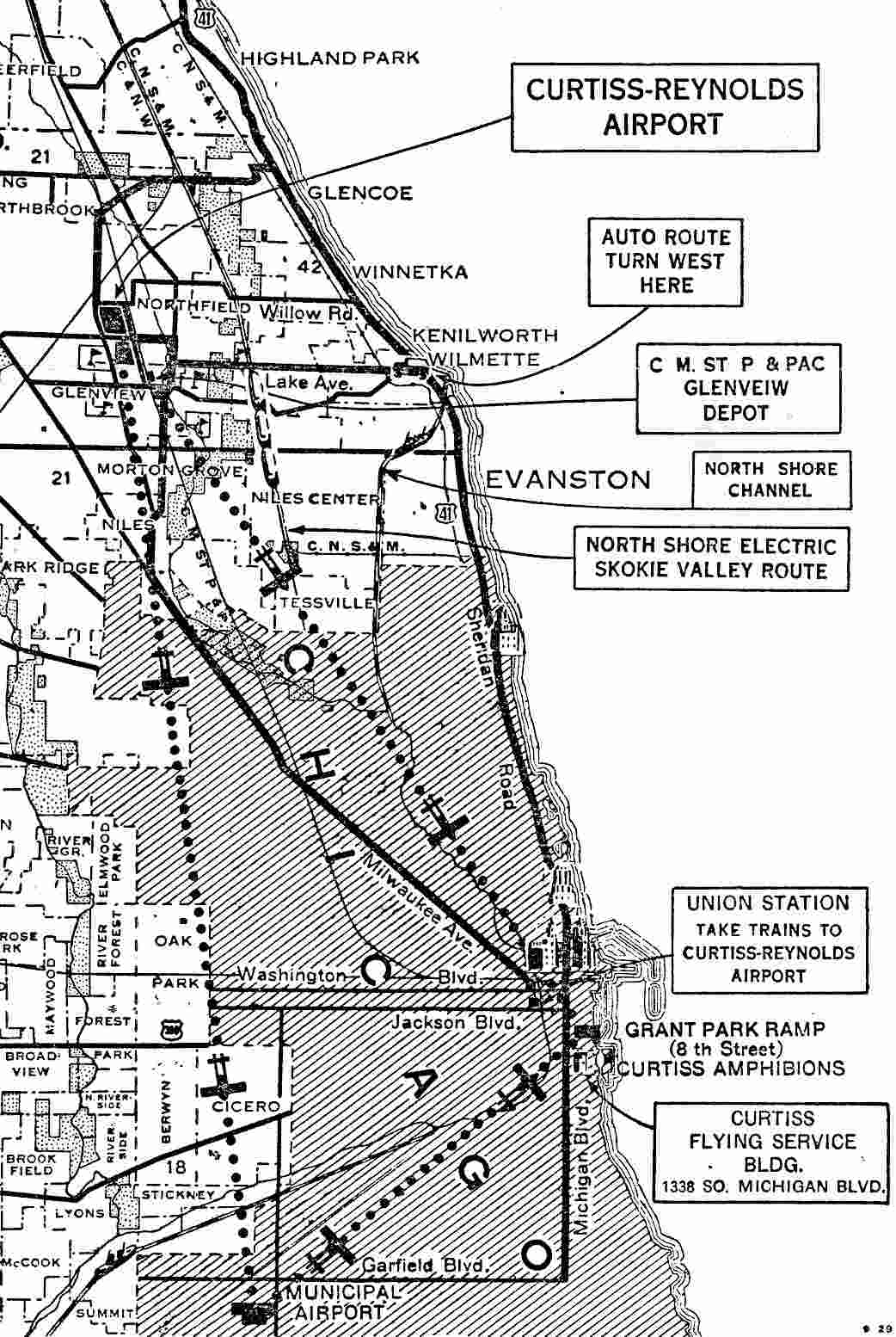 Abandoned  LittleKnown Airfields Illinois Northern Chicago Area - Chicago map airports