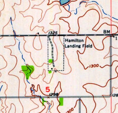 Hamilton Landing Field As Depicted In The 1955 Usgs Topo Map