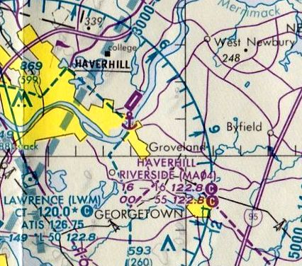 Usgs Topo Map 1987 The Last Aeronautical Chart Depiction Which Has Been Located Of Haverhill Riverside Airport