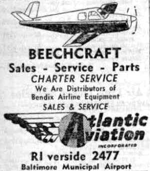 abandoned little known airfields maryland southeastern baltimore WWII Aviation an undated circa 1940s advertisement for atlantic aviation at baltimore municipal airport