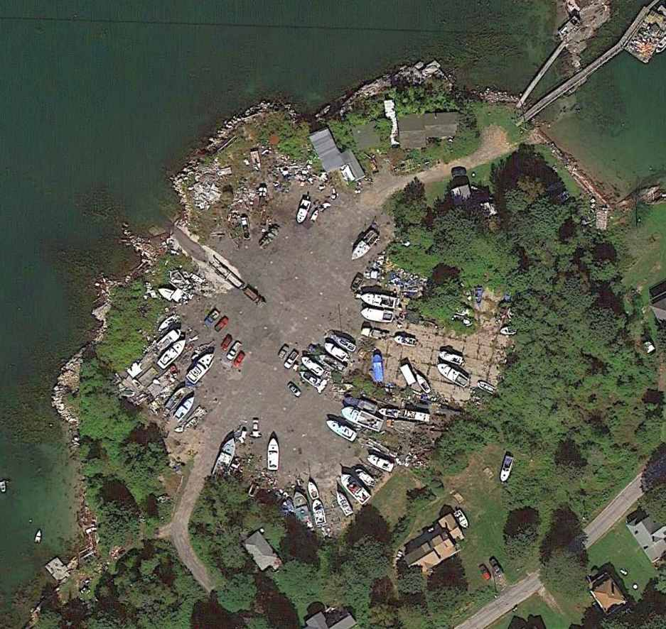 A 9 18 13 Aerial View Showed The Casco Bay Seaplane A Still Existed Reused For Boat Storage