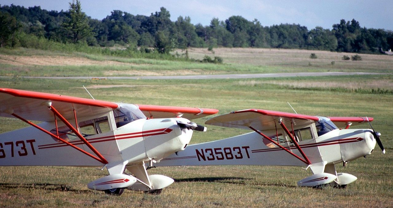 Abandoned Little Known Airfields Michigan Northeast Detroit Area Exampletaylorcraftwiringdiagram A Circa 1970s Photo Of 2 Taylorcraft F 19 Sportsmans At Oakland Orion Airport