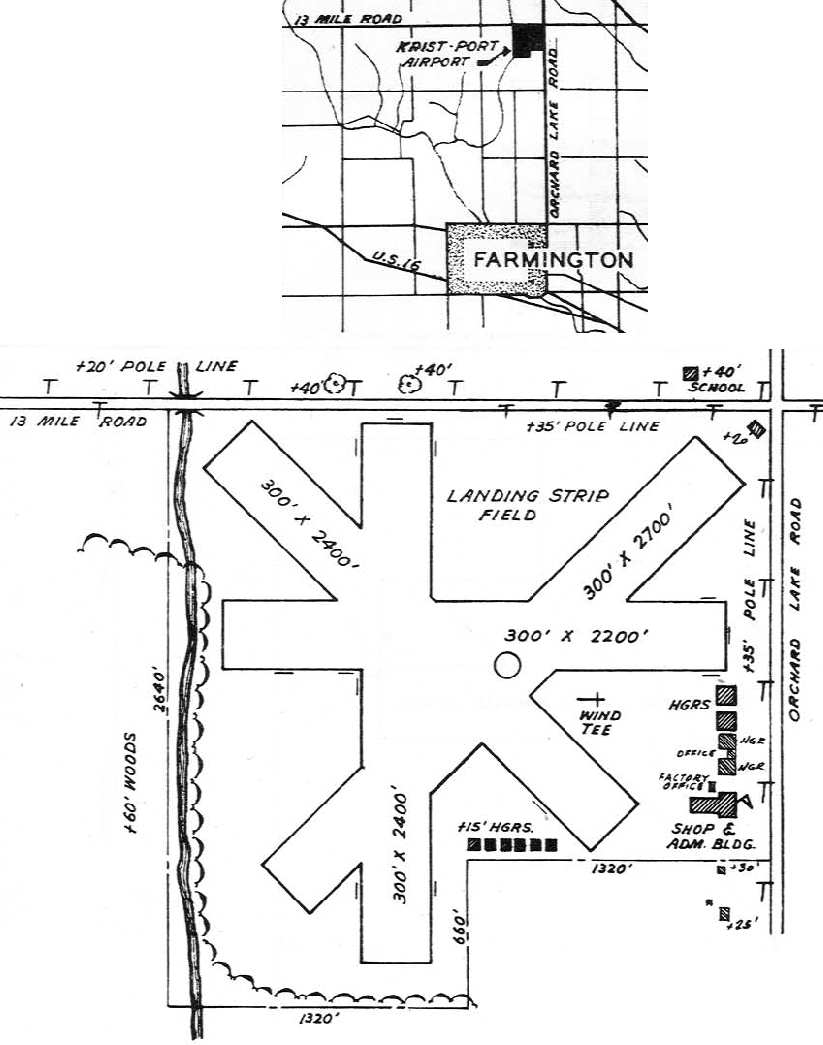 Abandoned Little Known Airfields Michigan Northwest Detroit Area Starting Circuit Diagram For The 1946 48 Plymouth All Models Airport Directory Courtesy Of Doug Ranz