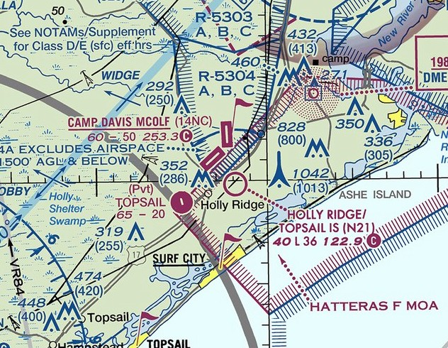 Abandoned & Little-Known Airfields: Southeastern North Carolina
