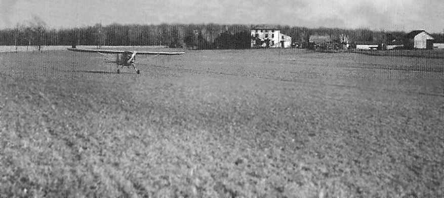 A 1945 Photo Of Conrad Merrill Landing At Merrill Airport In His Luscombe  (courtesy Of The Barrington Historical Society, Via Scott Roberts).