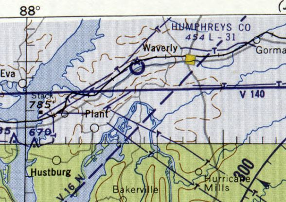 626ec2f455e The last depiction which has been located of the original Humphreys County  Airport was on the February 1960 Chattanooga Sectional Chart.