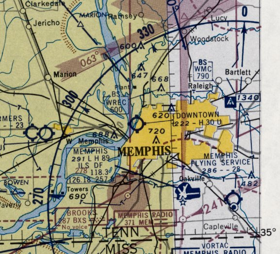 b0b0e5fd340 The earliest aeronautical chart depiction which has been located of Memphis  Downtown Airport was on the February 1960 Little Rock Sectional Chart