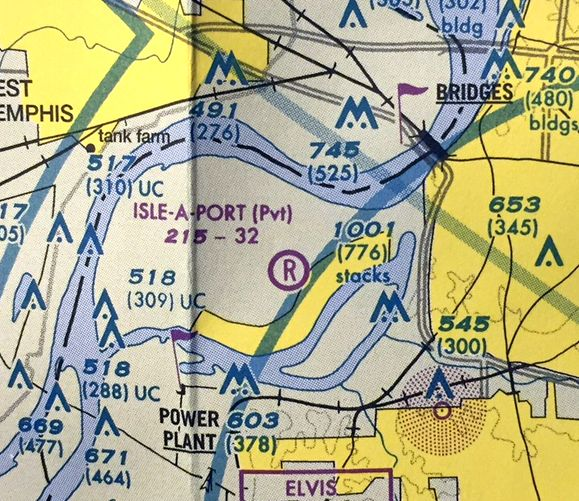 db3180dcbf7 The last aeronautical chart depiction which has been located of Isle-A-Port  Airport