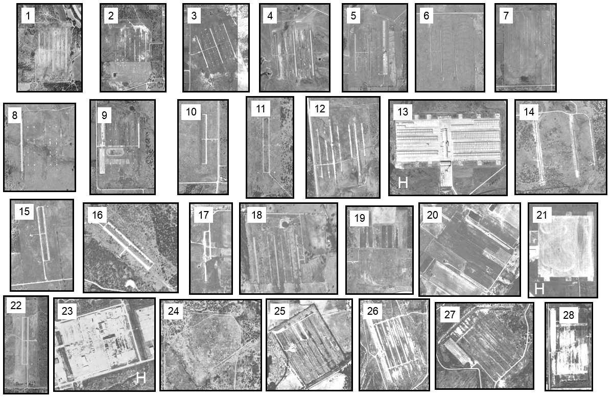 Abandoned Little Known Airfields Texas Eastern Abilene Area Chevy Wiring Diagrams For Cars Passenger Car 1951 Diagram All An Army Corps Of Engineers Composite 1995 96 Aerial Photos Showing The Amazing Number Variety Fort Wolters Stage Fields