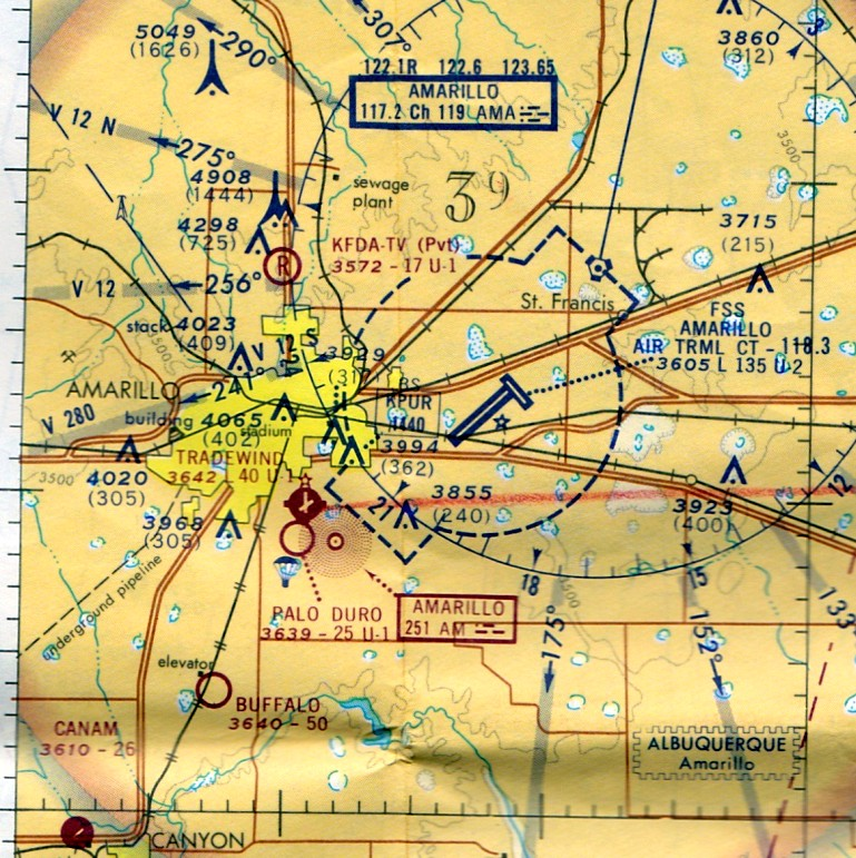 Abandoned LittleKnown Airfields Texas Amarillo Area - Map of amarillo texas