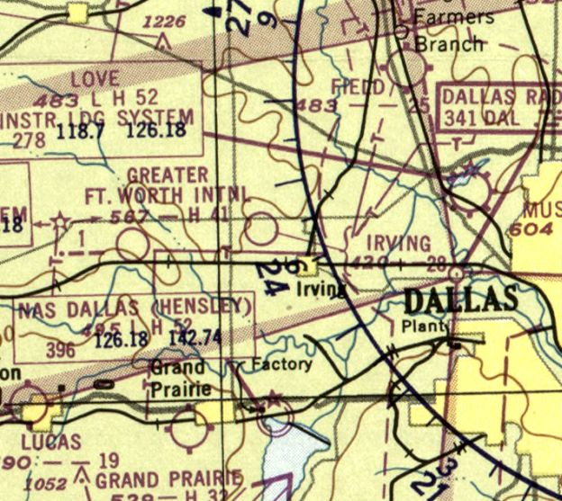 Road Map Of Dallas Texas.Abandoned Little Known Airfields Texas Northern Dallas Area