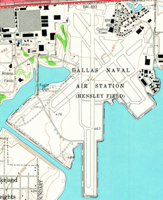 Abandoned LittleKnown Airfields Texas Southern Dallas Area - Map Of Naval Aviation Basesin The Us