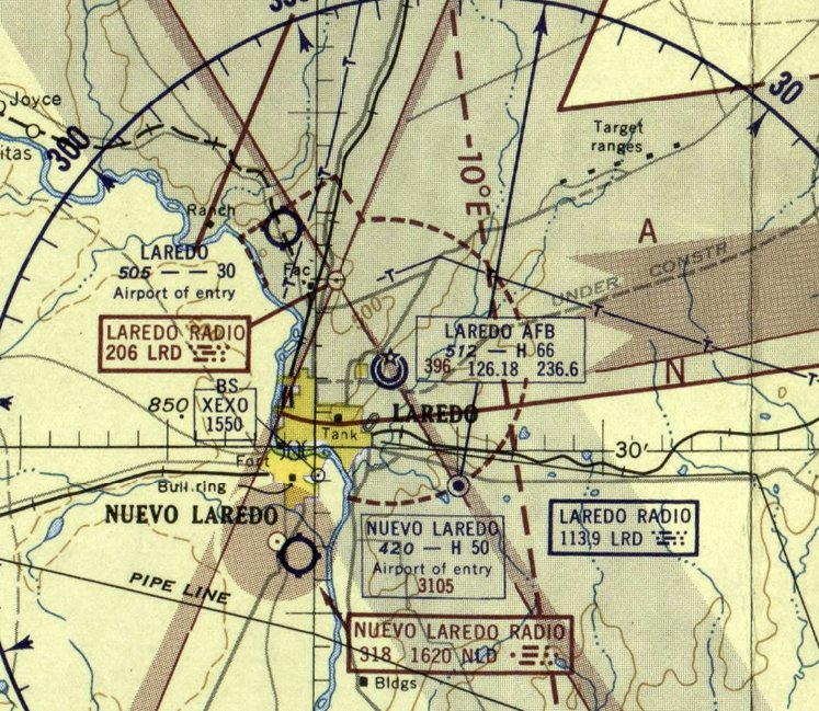 Map Of Texas Showing Laredo.Abandoned Little Known Airfields Texas Laredo Area
