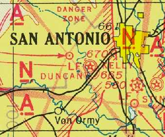 Abandoned LittleKnown Airfields Western San Antonio Area - Vintage aviation maps