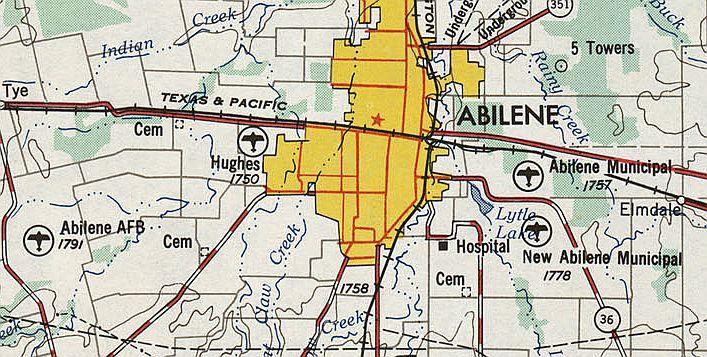 Abandoned LittleKnown Airfields Texas Western Abilene area