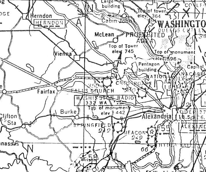 Falls Church Virginia Map.Abandoned Little Known Airfields Virginia Western Fairfax County