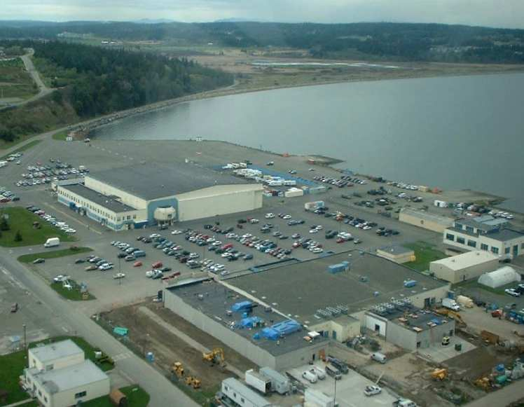 2003 photo by James Bond of theformer Oak Harbor seaplane hangar.