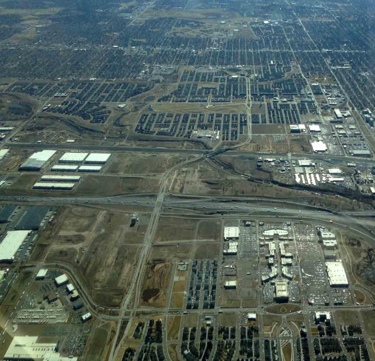 An aerial view of Denver International Airport shows A Gates and the Aerial photos of denver international airport